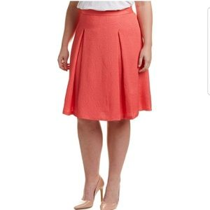 VINCE CAMUTO PLUS SIZE PLEATED A-LINE SKIRT